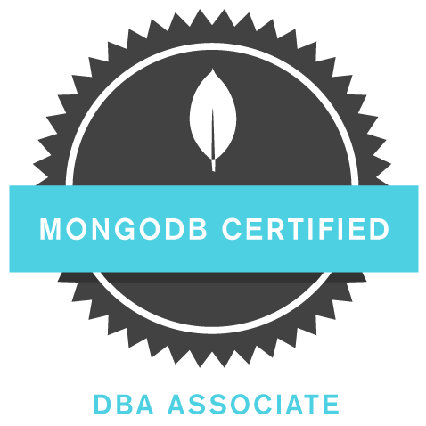 MongoDB DBA Certified Badge